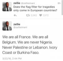 フランス テロ 投稿 ナイジェリアは無視